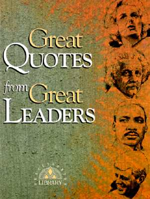 Great Quotes from Great Leaders By Anderson, Peggy (EDT)/ McKee, Michael (ILT)